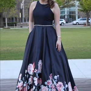 Beautiful Navy gown with floral design